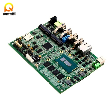 Fanless industrial motherboard with 1080P LVDS and 4*mini PCIe /3* sim slot for telecom server computer