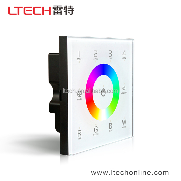Multi-Zone Wireless Wall Mounted RGB RGBW LED Controller