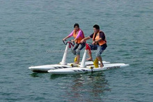 2015 Hot sale sea rides adult water bicycle pedal boats for amusement