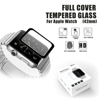 Wholeasle 0.2mm/0.3mm full cover anti fingerprint Tempered Glass Screen protector for Apple watch