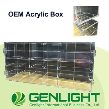 OEM ODM Adjustable Acrylic Toy Box Multifunction Cabinet Display Cases