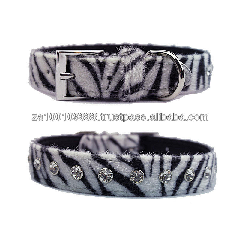Faux Zebra dog Collar - low moq