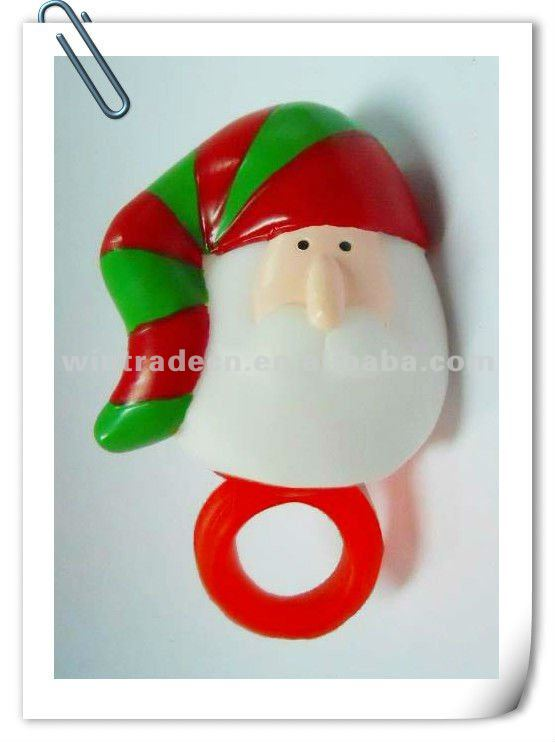 Christmas Flashing Santa Claus Ring