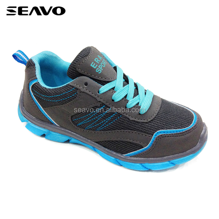 SEAVO SS17 active japanese style man mesh suede fabric upper grey sports shoes