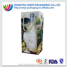 sgs approved reusable recyclable warterproof wine bottle paper bag