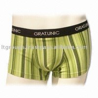 Men's Boxer with Reactive Print and Jacquard Elastic