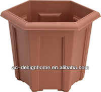LARGE HEXAGONAL PLASTIC PLANTER