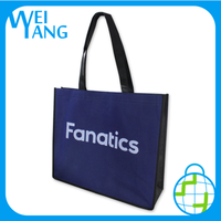 artistic custom logo Laser shopping hand polyester Non Woven bag and plastic bag with logo print