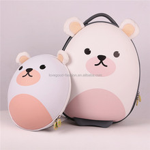 Cute Kids' Bear Shape Hard Shell Trolley Suitcase Backpack and Shoulder Bag 3-Piece Set