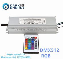 DMX 512 led driver wholesale with RGB control waterproof IP67 1-200W 3years warranty