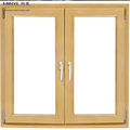 Artistic features golden color aluminum sliding window with tempered glass on the new