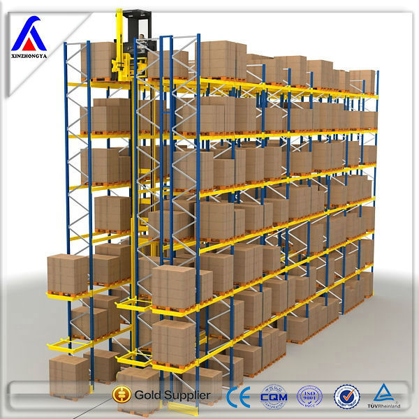 CE, IOS9001, TUV Certification Highly Space Saved VNA Pallet Rack