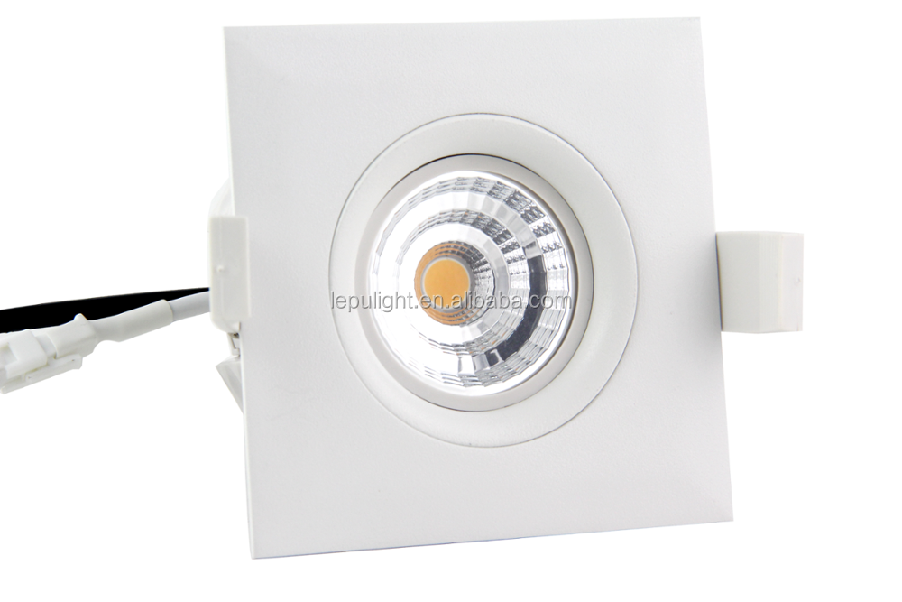 new warm dim fireproof gyro 360deg tilt model 9w dimmable led downlight design for nordic 2700k 3000k 4000k