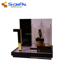Excellent quality acrylic cosmetic makeup display holder stand showcase