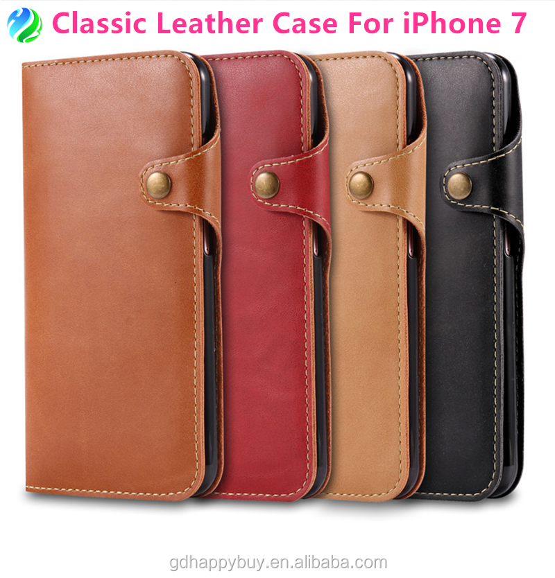 Japanese style new design shockproof flip leather phone case for iphone 7 wallet case for iphone 6 cover