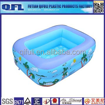 Huizhou Giant High quality inflatable rectangle outdoor water paddling pool for family swimming