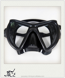 cool and fashion custom silicone men and women diving mask made in China