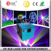 XHR High power sharp beam RGB 3W laser logo projector