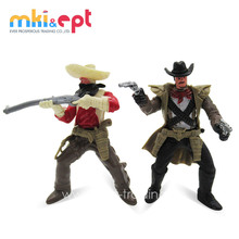 Plastic Cowboy Play Set Toy Action Figure With Movable Limbs