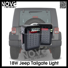 Wholesale High Quality 18w Rear Led Tail Lamp Black Chrome Led Trailer Tail Light for Wrangler