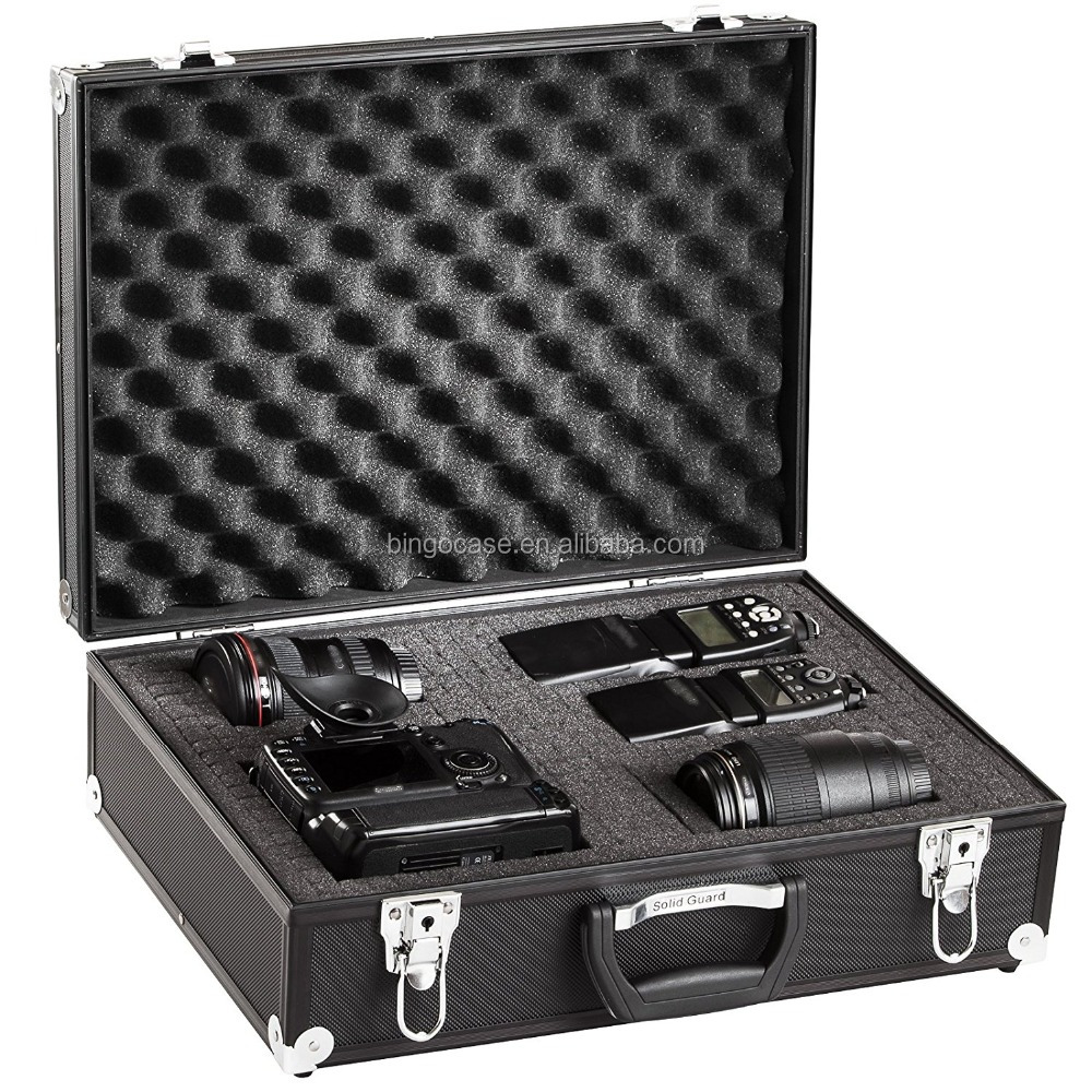 Reinforced Metal Corners Flight Case Aluminum Tool Case with Foam