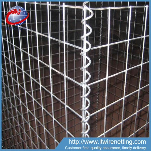 Rust proof galfan coated welded gabion box / zinc-Al coated welded gabion
