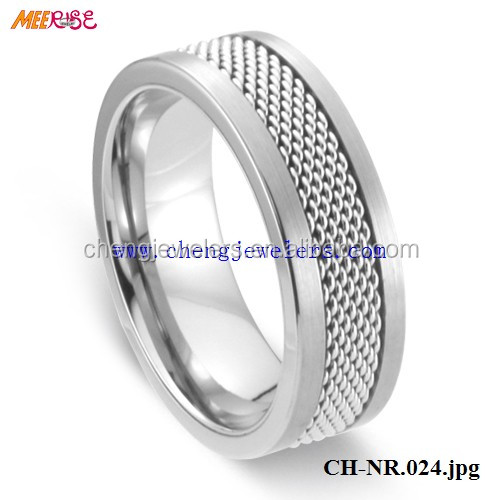 hottime Product for 2017 Polished gear mens tungsten carbide tat ring