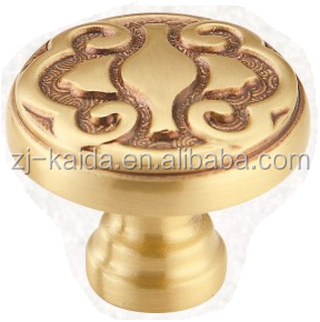 Wardrobe, Cabinet, Drawer Rose Golden Effect Brass Handle