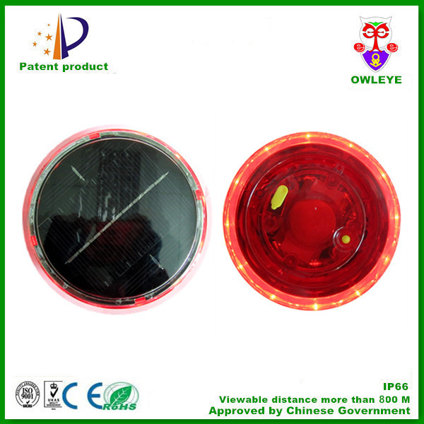 solar powered led warning lights with magnet/portable solar led light with magnet /mini blinking led light
