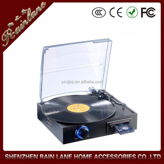 vintage gramophone cassette recorder portable vinyl reocrd player