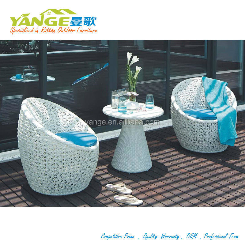 Rattan Wicker Egg Shaped Furniture For Outdoor Use