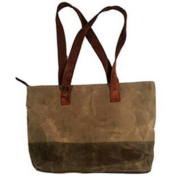 BSCI SEDEX Pillar 4 really factory Wholesale fashion custom printed waxed canvas tote bag