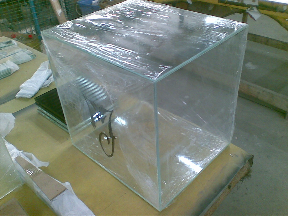 Customized glass box used for glass display showcases