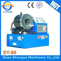 SY-80 China Factory Supplier hydraulic hose fitting crimping machine/high pressure hose press crimper