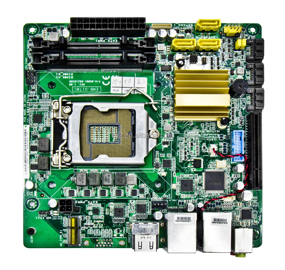 Intel skylake Q170 NAS motherboard mini ITX