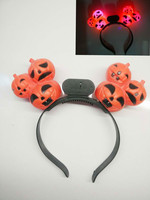 YIWU caddy HP-75 Orange Black Plastic Pumpkin Halloween Flashing LED Headband
