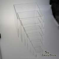 Acrylic platform U shape clear 7 tier display risers ST-RISE7P K02
