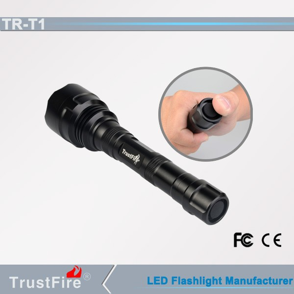 Trustfire TR-T1 1600LM rechargeable torch, police/hunting flashlight offer customerized logo