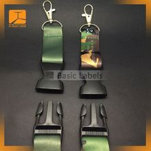 Custom full color release buckle sublimation cell phone lanyard for suppliers