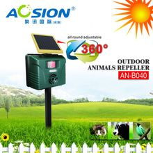 Aosion Designed IPX4 PIR Ultrasonic + Sound + Flash electronic cat dog bird repeller