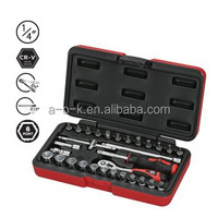 "1/4""DR 30pc Super Grip Non-slip Socket Set"