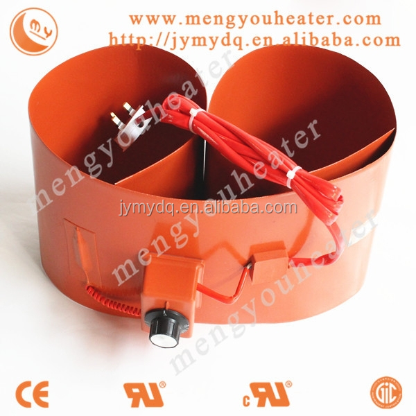 200L drum heater 250x1740 2kw/220v silicon rubber heater oil pan thermal protection