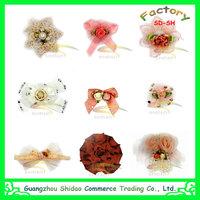 Wholesale Fashion Hair Accessories Shabby Chiffon Flower Large Hair Flower