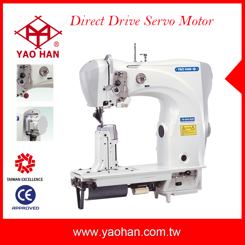 YAOHAN YH-691D-830 Direct drive motor Heavy duty used single needle shoes making sewing machine