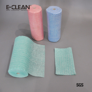 Washable disposable Spunlace Nonwoven kitchen Dish Wipes cleaning cloth roll