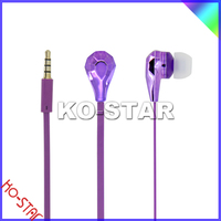 KO-STAR, 2013 HOT SELLING high quality fashion metal earphone glowing earphone , NEW!!!