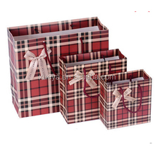 hot sale red Christmas santa paper organza gift bag