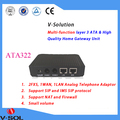 V-Solution FTTH VoIP Gateway home gateway ATA322 Analog Telephone Adapter 2FX+1WAN+1LAN Layer 3 high quality
