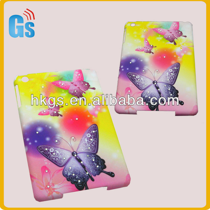 Rhinestone For Ipad Cover Case,For Ipad Mini Slim Case,For Ipad Mini Crystal Case