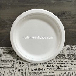 Bagasse Plate/Biodegradable Tableware/Sugarcane pulp bagasse food plate dinnerware dishes garden home plate